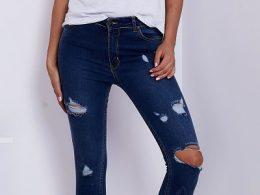 jeansy z dziurami