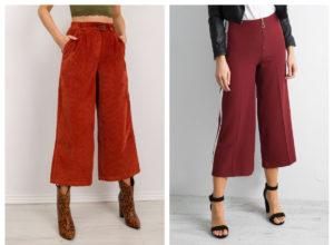Spodnie culotte – komu pasują i stylizacje