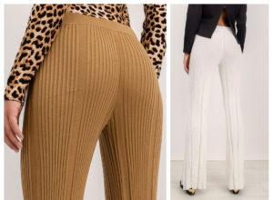Prążkowane spodnie – najpopularniejsze modele